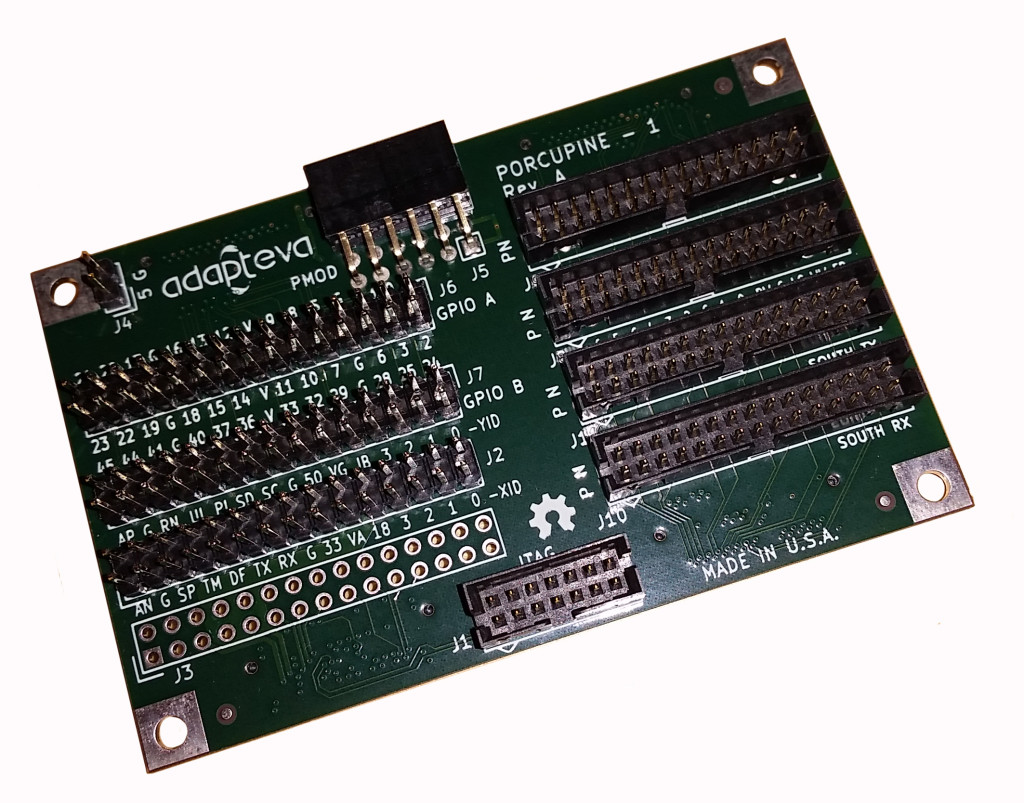 "Meet ""Porcupine"", the Parallella breakout board."